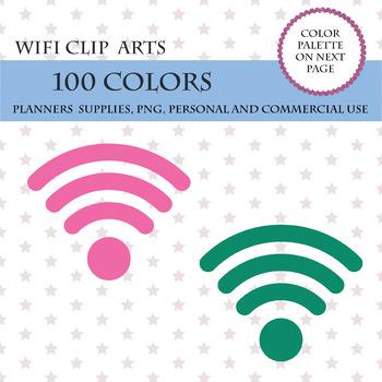 100 WiFi clip art, WiFi clipart, Wireless internet sign, WiFi icon, WiFi graphic
