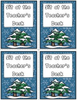 100 Winter Themed Reward Coupons