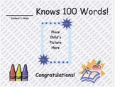100 Word Certificate
