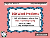 Word Problems---2 digit add and subtract with regrouping