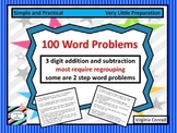Word Problems--3 digit addition and subtraction