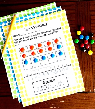100 Word Problems With Number Lines, Ten Frames, Base Ten Blocks and More
