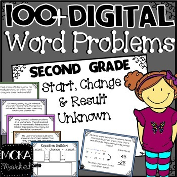 1-Step Word Problems for Second Grade