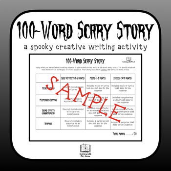 100-Word Scary Suspense Story Writing