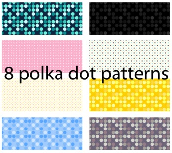 100 Word Wall Words 8 Polka Dot backgrounds First Fourth Fry Words