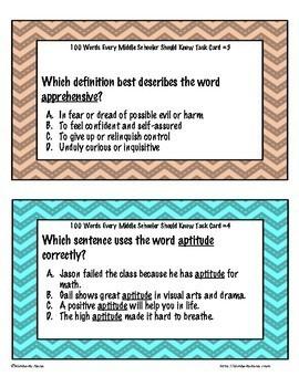 100 Words Every Middle Schooler Should Know Jumbo Bundle