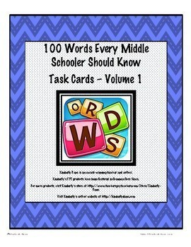100 Words Every Middle Schooler Should Know Jumbo Bundle