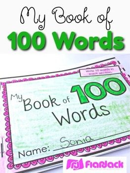 100th Day 100 Words Mini Book