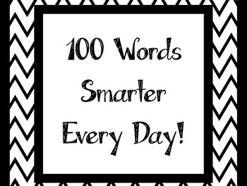 100 Words Smarter Every Day!