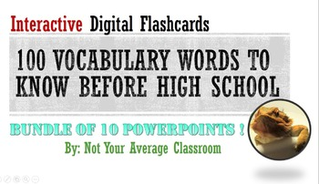 100 Words Every Middle Schooler Should Know BUNDLE All 100