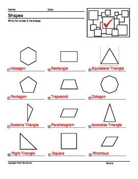 100 Worksheets Math Shapes Geometry