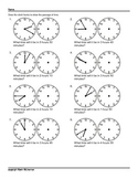 100 Worksheets Math Time Passages Clocks