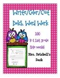 100 Write/Color/Cut K-1