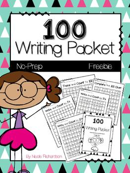 100 Writing Packet ~ FREEBIE! ~ NO PREP!
