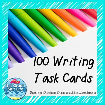 Writing Prompt Task Cards for All Year