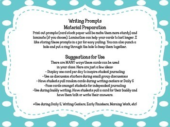 100 Writing Prompts