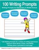 100 Writing Prompts - Expository Persuasive Narrative Descriptive Writing Ideas