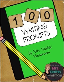 100 Writing Prompts FREEBIE!