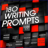 180 Writing Prompts: Grades 3-7 (PowerPoint & Printable)