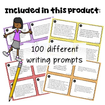 100 Writing Prompts Task Cards