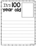 100 Year Old Writing EDITABLE