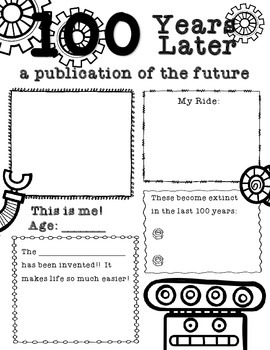 100 Years Later - 100th Day of School Activity