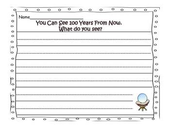 100 Years-Writing and Craft Activity