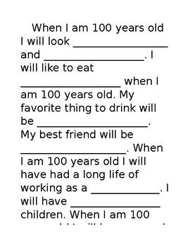 100 Years old (editable)