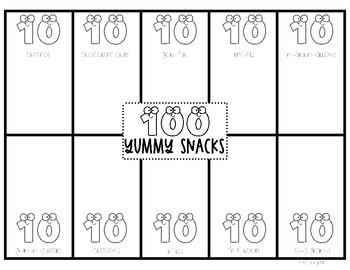 100 Yummy Snacks Snack Mat
