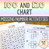 100 and 120 Chart: Missing Number Activities