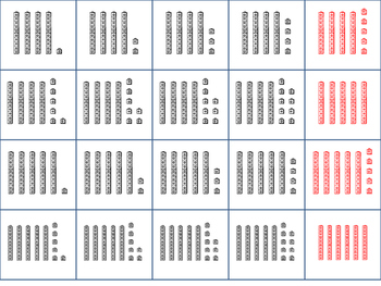 100 cards for 100's-chart Pocket Chart