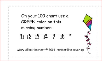 100 chart cover-ups (pictures on 100 chart)