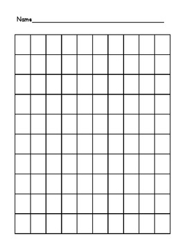 photograph about Blank 100 Square Grid Printable named 100 Chart Blank Worksheets Training Supplies TpT