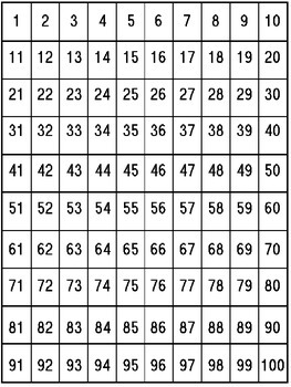 100 Chart Missing Number Worksheets Teaching Resources Tpt