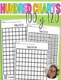 100 chart worksheet Spanish