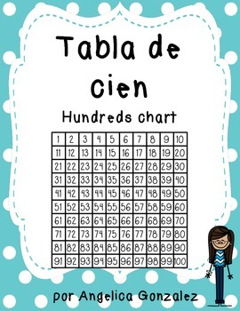 100 chart worksheet Spanish