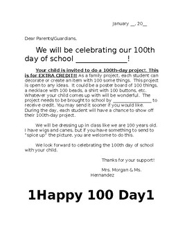 100 day letter