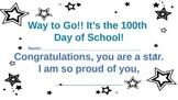 100 day of school certificate