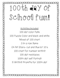 100 day of school fun!