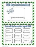 100 day of school mini-book