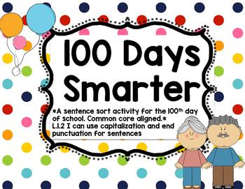 100 days smarter sentence sort