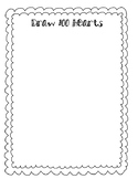 100 day worksheet (Draw 100 Hearts)
