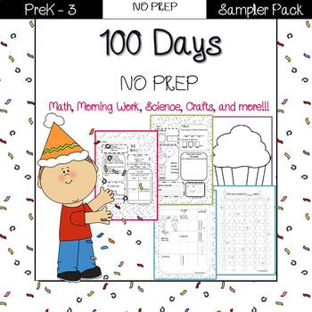 100 days NO PREP morning work, math, and more!