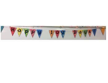 100 days banner
