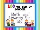 100 days of School Literacy and Math Fun Kit