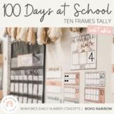Modern BOHO RAINBOW 100 Days of School Tally | Neutral Rainbow Decor