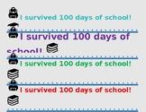 100 days of School Water Bottle Label
