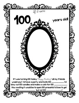 100 days of school: If I was 100 years old