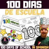 100 days of school activity book in Spanish