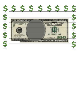 100 days of school dollar writing